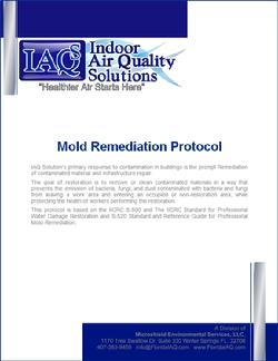 IAQ Solutions Mold Remediation Protocol Report